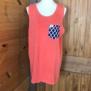 Fraternity collection pocket tank top